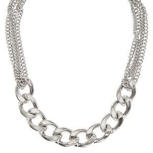 Jewelry - Silver toned chain choker